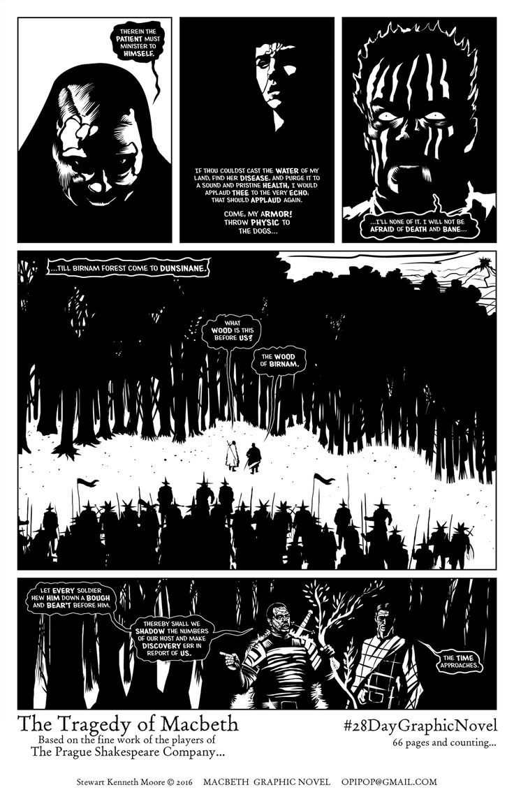 Artwork from Macbeth, an S K Moore Graphic Novel -- https://www.amazon.com/Tragedie-Macbeth-William-Shakespeare-Graphic/dp/1533596778