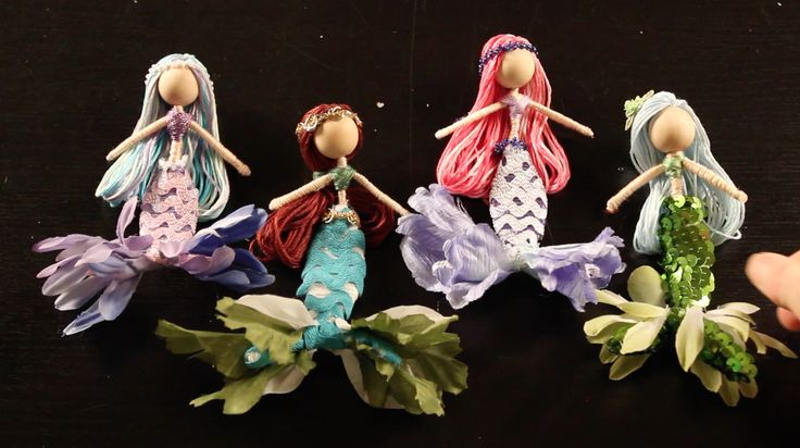 This DIY tutorial on how to make mermaid fairy dolls will walk you step by step through how to make this cute little mermaid fairy doll.