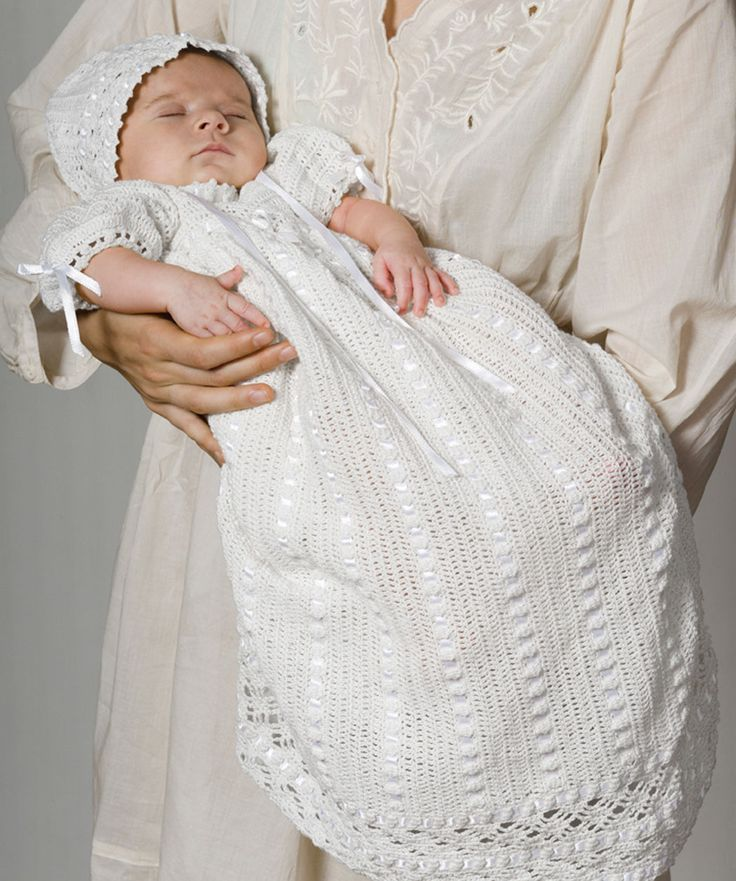 Free Crochet Pattern Baby Cradle Purse : 17 Best images about Baby Rowe Christening Gown on ...