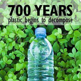 Plastics: 700 years to decompose