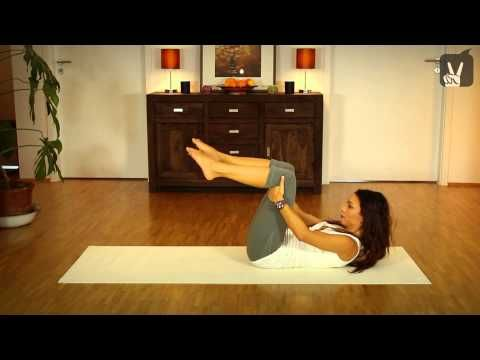 Pilates Workout: Flacher, straffer Bauch in 5 Minuten - Fit in 5... - YouTube