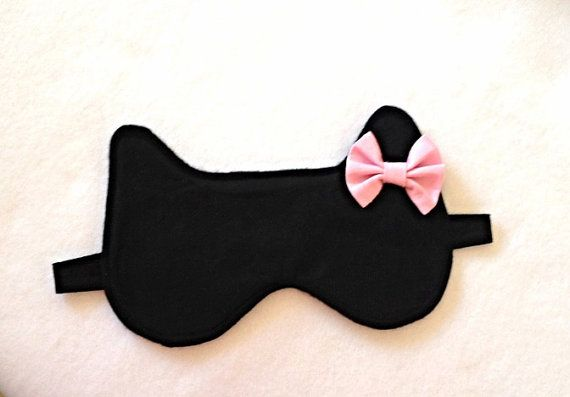 Cat woman sleep mask Cotton sleep mask PJ Party by GoiaBoutique, $7.00