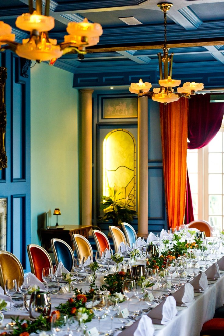 The colours in the ballroom are just stunning and create a really special atmosphere for a wonderful dinner celebration.