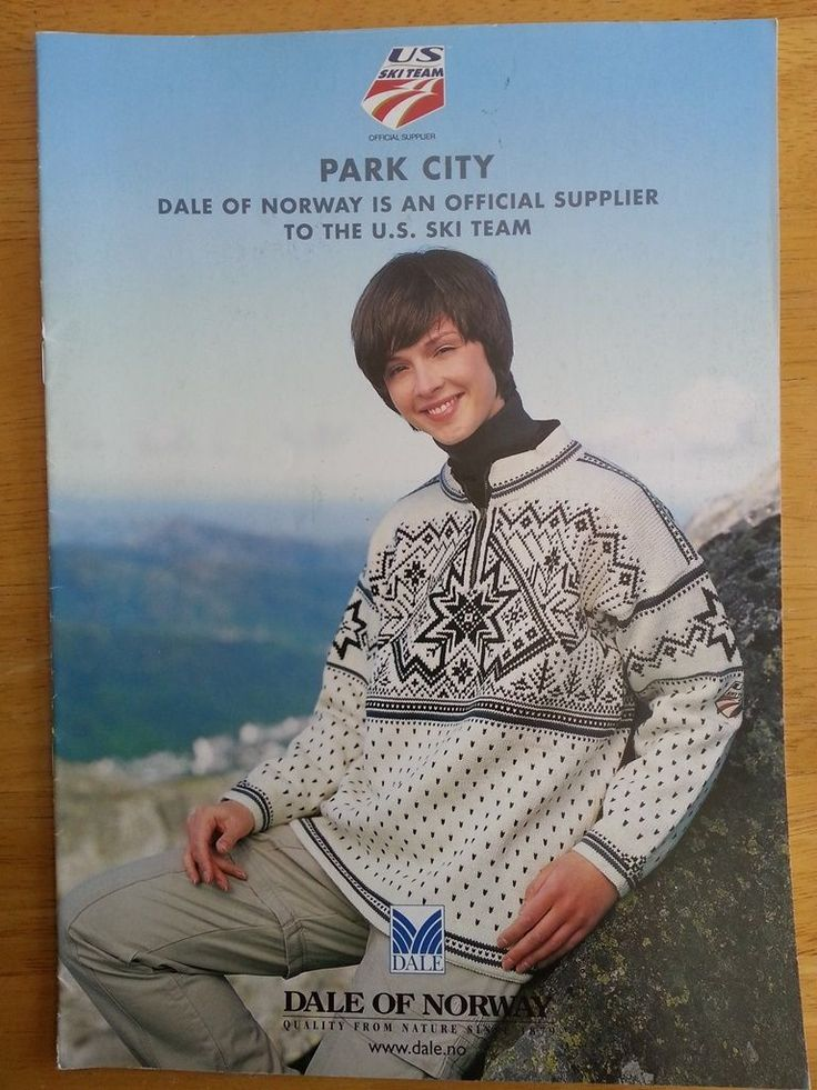 Dale of Norway Park City 2002 Olympics US Ski Team Knitting Pattern Book | eBay