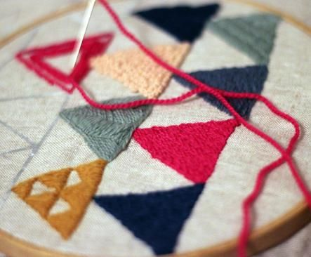 An embroidery kit is the perfect way to while away a snowy afternoon.
