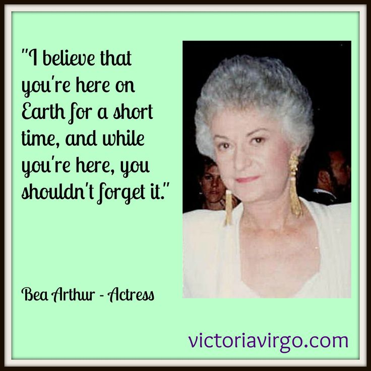 Beatrice Arthur | Bea Arthur – Quote Monday