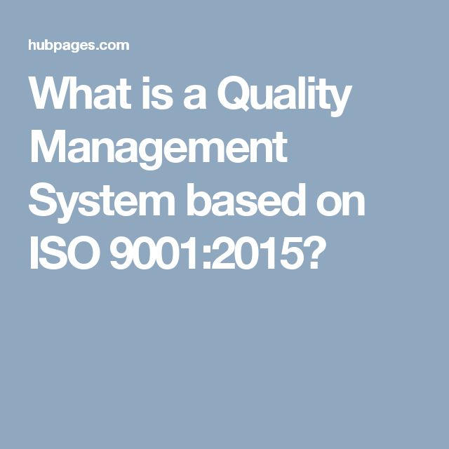 What is a Quality Management System based on ISO 9001:2015?