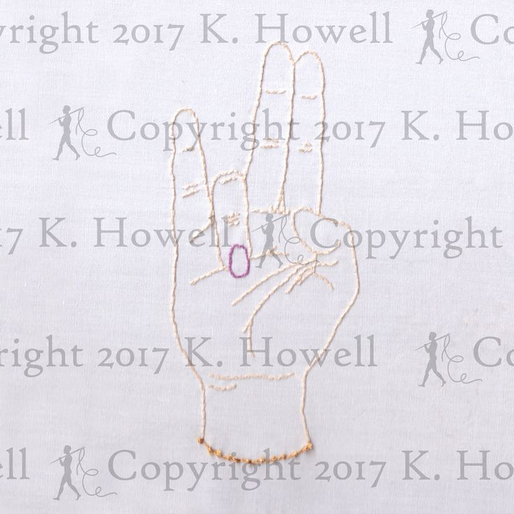 The Shocker Hand Embroidery Pattern, Hand, Gesture, Position, Symbol, Fingers, Shocker, Crude, Rude, Profane, Sexual, Explicit, Naughty, PDF by ravenfrog on Etsy