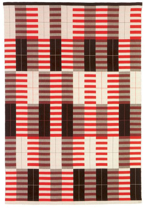 Anni Albers - Black-white-red, Bauhaus 1927 | Patterns ...