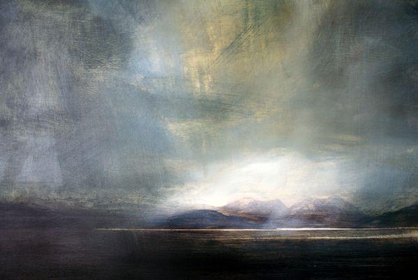 Cuillin Hills, Skye - Oil on Board - Zarina Stewart-Clark, Landscape Artist