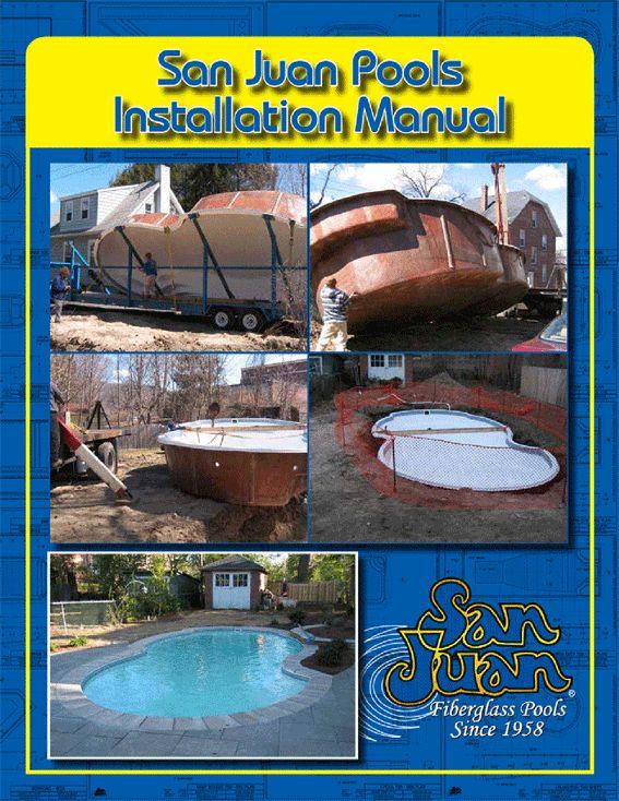 Fiberglass pool installation manual back yard for Pool design handbook