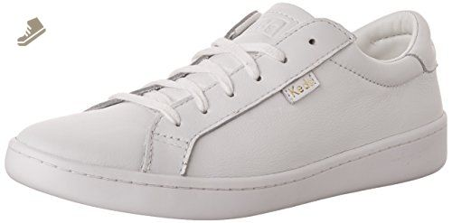 Keds Women's Ace Leather Fashion Sneaker, White/White, 8 M US - Keds sneakers for women (*Amazon Partner-Link)