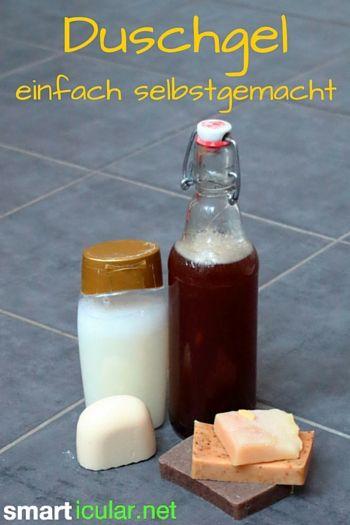 Mit diesem einfachen Rezept aus zwei Zutaten kannst du ein natürliches Duschgel herstellen, Geld sparen und die Umwelt schonen.