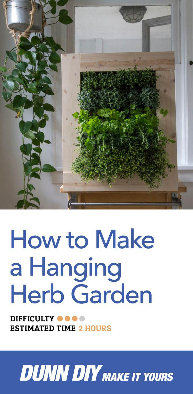 25 best hanging herb gardens ideas on pinterest kitchen for Make your own indoor garden