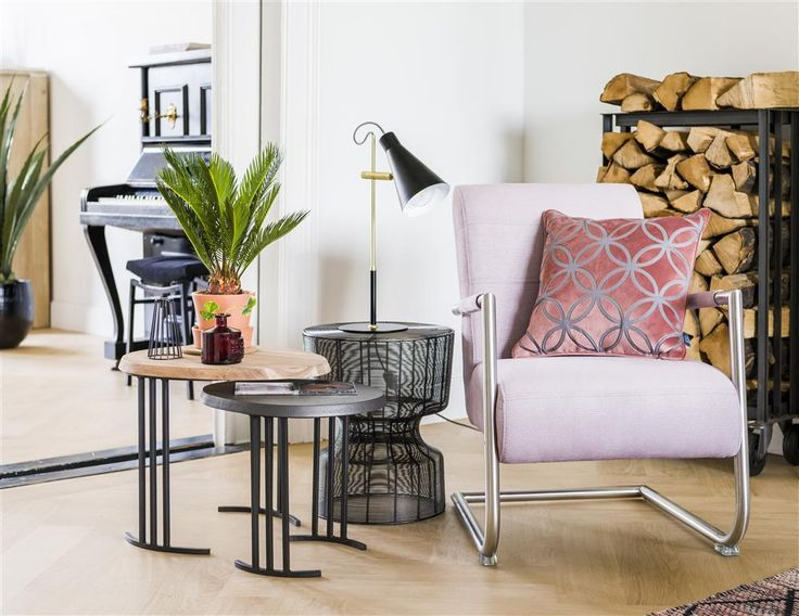 Pastel roze fauteuil Angelica - Henders & Hazel