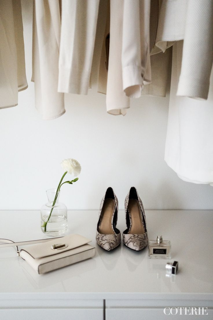 Two friends, one blog driven by a passion for fashion and interior. Join our coterie at www.coterie.fi   #Coterieofficial #Coterie #blog #interior #home #deco #decoration #decor #white #modern #Scandinavian #scandinavianstyle #scandinatiandesign #walkincloset #closet #storage #clothes #fashion #heels #shoes #details #parfume