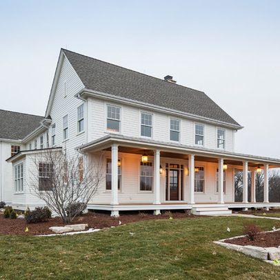Traditional Exterior Farmhouse Front Porch Design Ideas