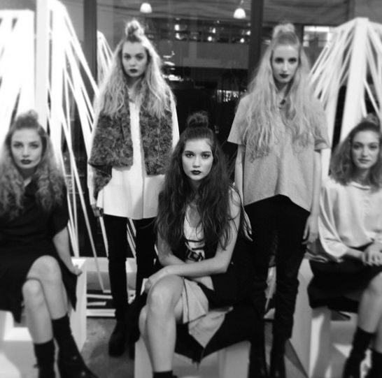 Model #installation at a private event at #TheShelter #models #event #fashioninstallation #theshelternz #conceptstores