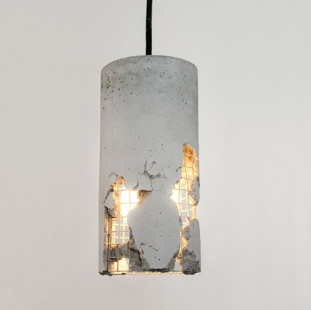Design Hängeleuchte aus Beton // hanging lamp made out of concrete by LJ Lamps via DaWanda.com