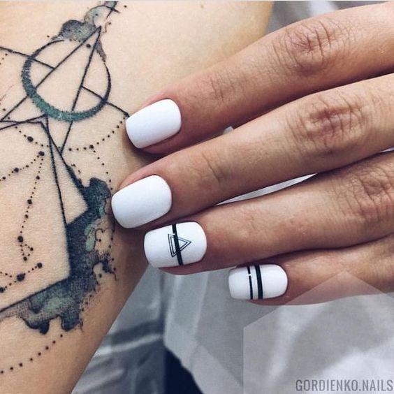 60+ Must Try Nail Designs für kurze Nägel 2019 – #Designs # for #Short # Nails – Nails