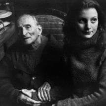 Henri Cartier-Bresson, SWITZERLAND. Canton of Vaud. Rossinière. 1999. Painter Balthus with his model Anna Wahli.