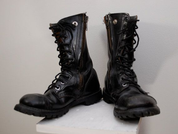 Vintage CAROLINA Jump Boots work army Made In by ilovevintagestuff