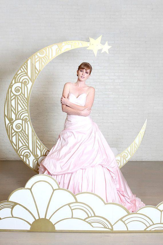 Gatsby Paper Moon Backdrop and Foreground от PaperMoonShoppeCo