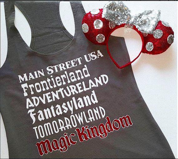 Disney Magic Kindom Lands Tank Main Street by DeepInTheHeartTees