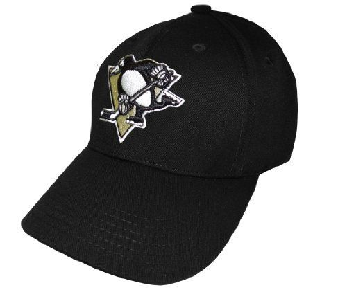 NHL Pittsburgh Penguins Replicant Hat, BLACK, OSFA by Old Time. $13.38