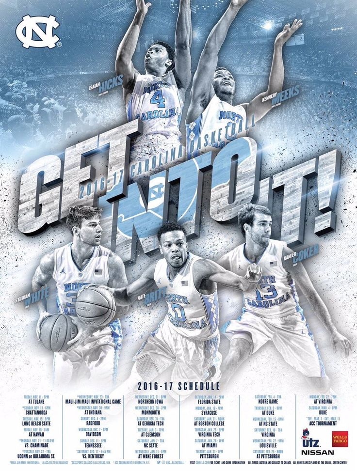 2016-17 North Carolina Men's Basketball Poster
