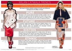 S/S 2013 Catwalk Trend Analysis - Milan