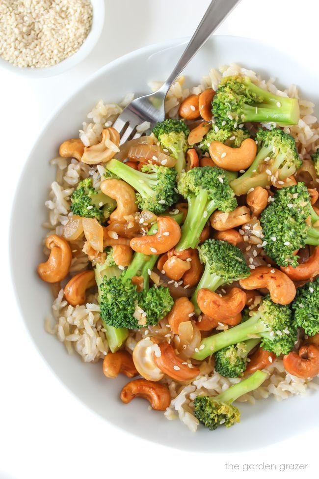 Broccoli Cashew Stir Fry Rezept In 2020 Gesunde Vegetarische Rezepte Gesunde Rezepte Essensrezepte