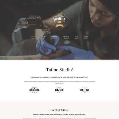 WordPress Theme for RedInk - Tattoo Salon Website