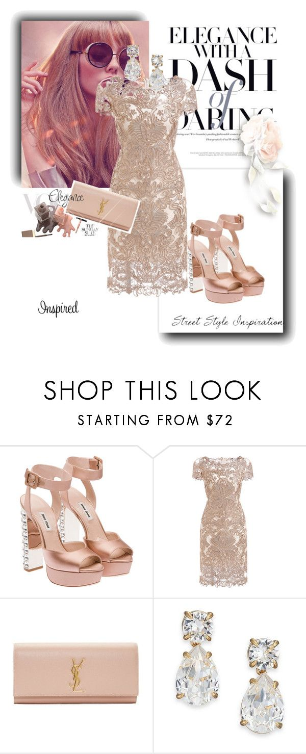 """Mia"" by any-dazaperez ❤ liked on Polyvore featuring Miu Miu, Yves Saint Laurent and Kate Spade"