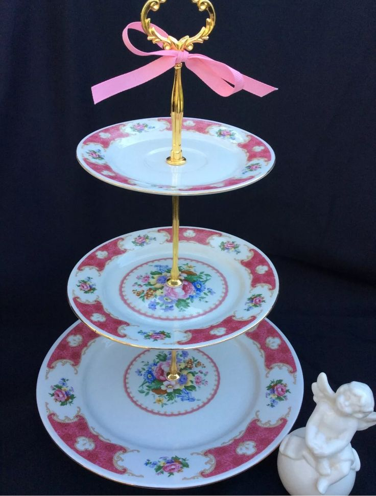 3 tier wedding cake stand pink gold cake stand china