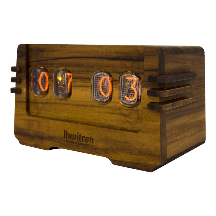 The Vintage Nixie Tube Clock - Ohm #Nuvitron #gadget #nixie #awaitingtheowner #woodworking #carpentry #awaitingtheowner #Design_Only #etsymaker #wooddefined #timepiece #nixieclock #interiorstyling #nixietube