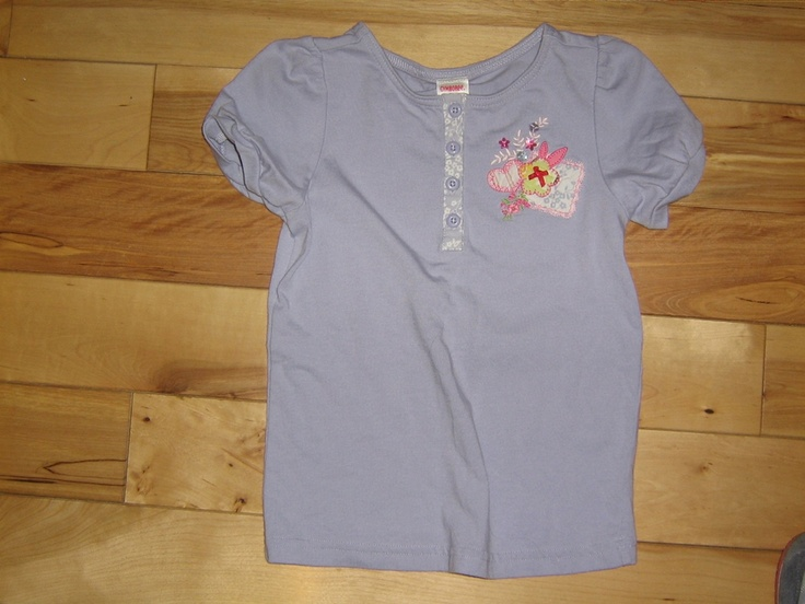 GYMBOREE LOVE IS IN THE AIR PERIWINKLE BLUE TOP 6 EUC (from the January '07 line)  $4.00