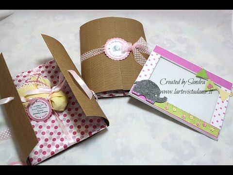 Bomboniere Battesimo fai da te-Cornice portafoto e confezione-Scrap tutorial-ft. Sweet Bio Design | l'arte vista da me