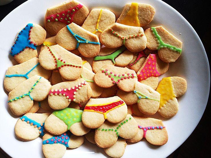 쿠키, 화려한, 엉덩이, 굽다, 맛있는, 크리스마스, 보상, 끈 팬티, 속옷