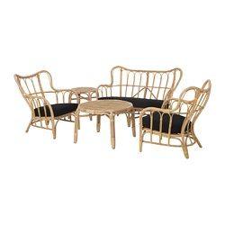 IKEA MASTHOLMEN 4-seat conversation set, outdoor Handmade by a skilled craftsman.