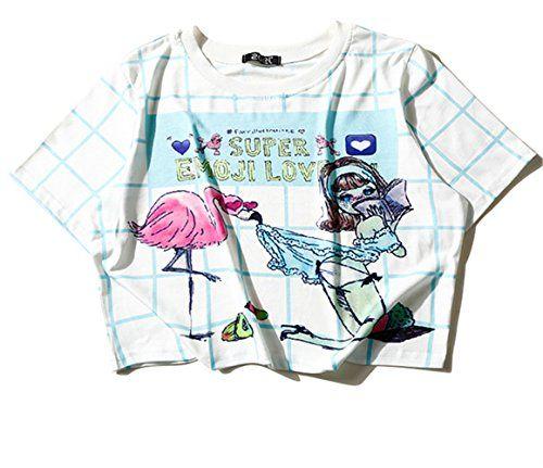 (シーファニー)Cfanny レディース Tシャツ ショット丈 チェック 半袖 プリント T3656 藍 Cfanny https://www.amazon.co.jp/dp/B06XD8SG7T/ref=cm_sw_r_pi_dp_x_5Uj3ybVWPYQC8