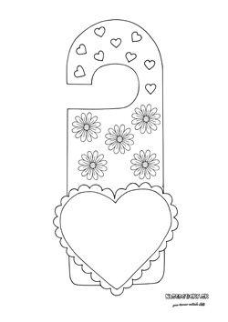Valentínske visačky na dvere - Aktivity pre deti, pracovné listy, online testy a iné