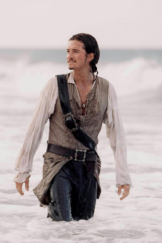 Will Turner - Orlando Bloom, Pirates of the Caribbean. The moment i fell in love with a pirate...