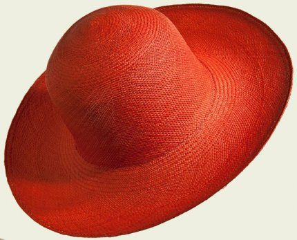 Panama Cloche   #hat #hats #womanhats #red #rouge #panama #cloche #clochehat #accessories #rosso