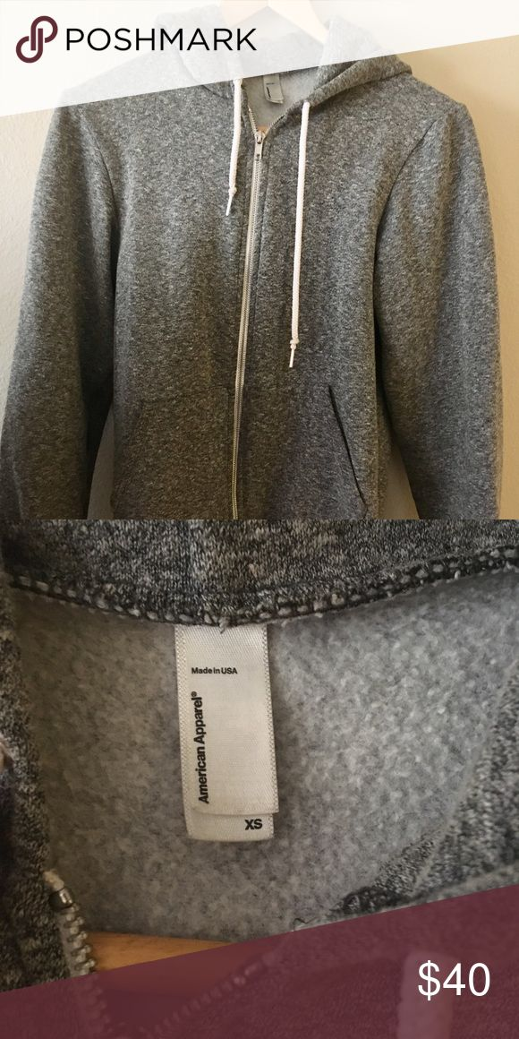American Apparel Grey Zip up Hoodie Great classic very comfortable and warm American Apparel Hoodie that fits men and women. In great condition American Apparel Jackets & Coats