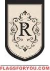 """Monogram """"R"""" Estate Flag - 1 left"""