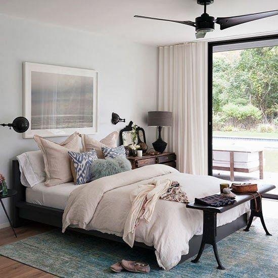 Color palette, bedside lamps, sliding door