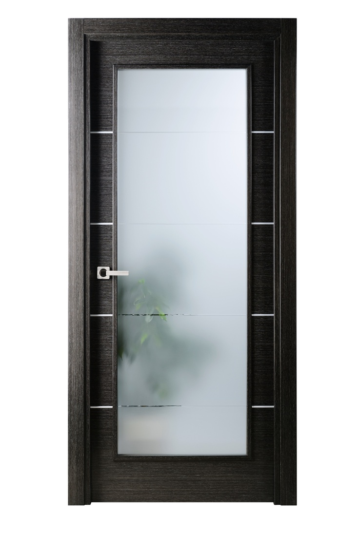 Modern interior glass doors - The Avanti Comes In A Natural Black Apricot Wood Veneer In Horizontal Direction Decorated With