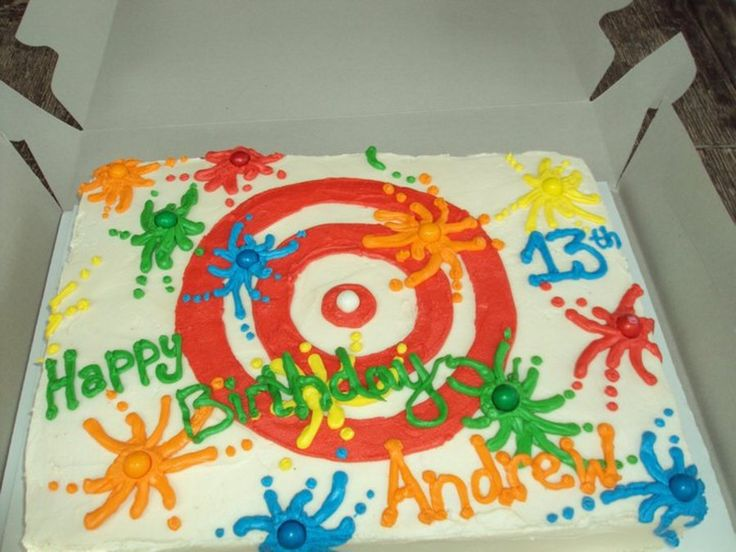Perfect Cake For Paintball Party.