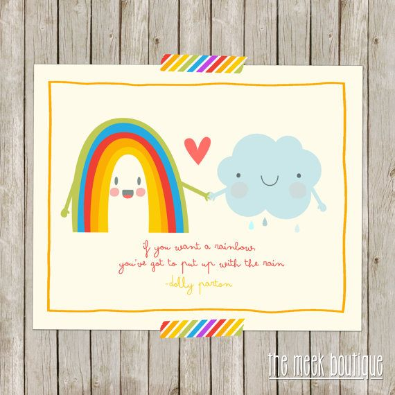 INSTANT DOWNLOAD Rainbow Quote Dolly Parton by TheMeekBoutique, $5.00